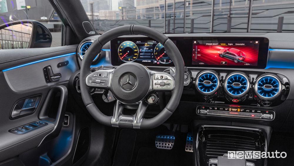 Mercedes-AMG A 35 4MATIC Sedan plancia strumenti MBUX