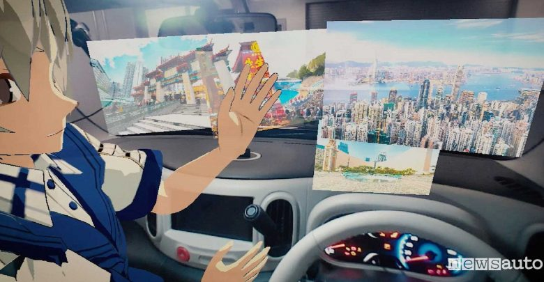 nISSAN Invisible-to-Visible (I2V) 5G in auto realtà virtuale