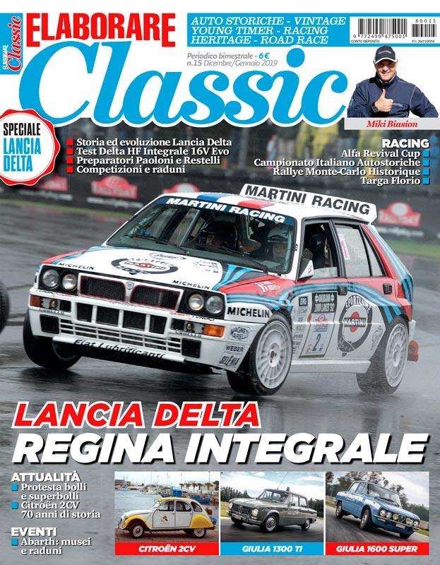 Magazine Elaborare Classic con il test del Kit Abarth 595 alla Targa Florio 2018