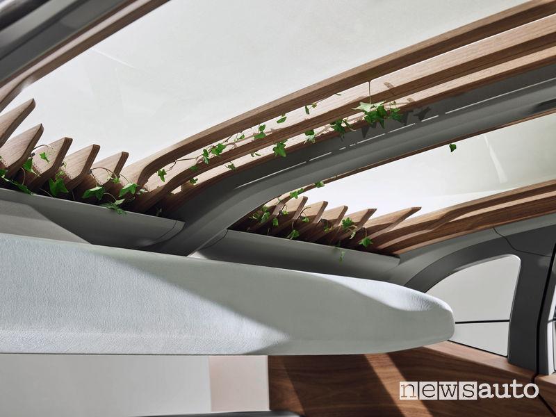Audi AI:ME la vegetazione nell'abitacolo