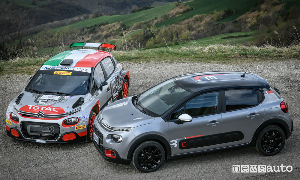 Citroën C3 RaC3 Edition e la C3 R5 da rally