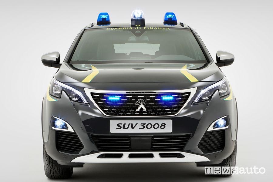 Peugeot 3008 Guardia di Finanza vista frontale