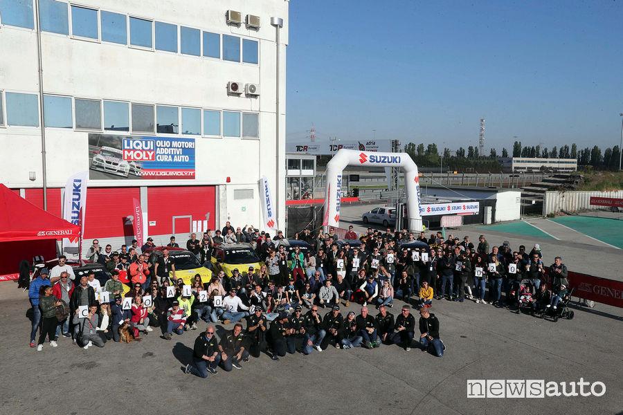 Foto di gruppo finale Rally Italia Talent 2019 Circuito di Adria