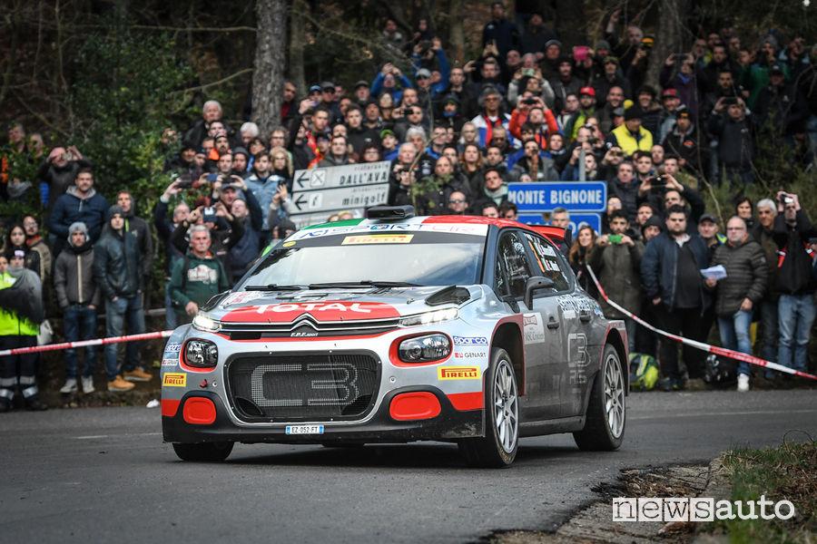 Rally Sanremo 2019 Citroën C3 R5 Rossetti/Mori