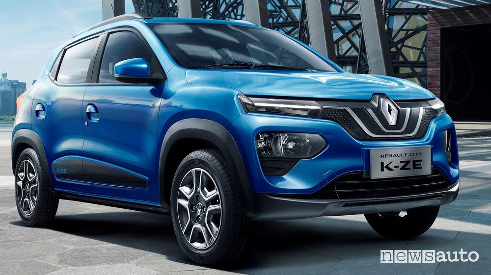 Renault City K-ZE vista di profilo