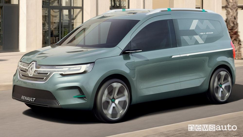 Renault Kangoo Z.E. Concept vista di profilo