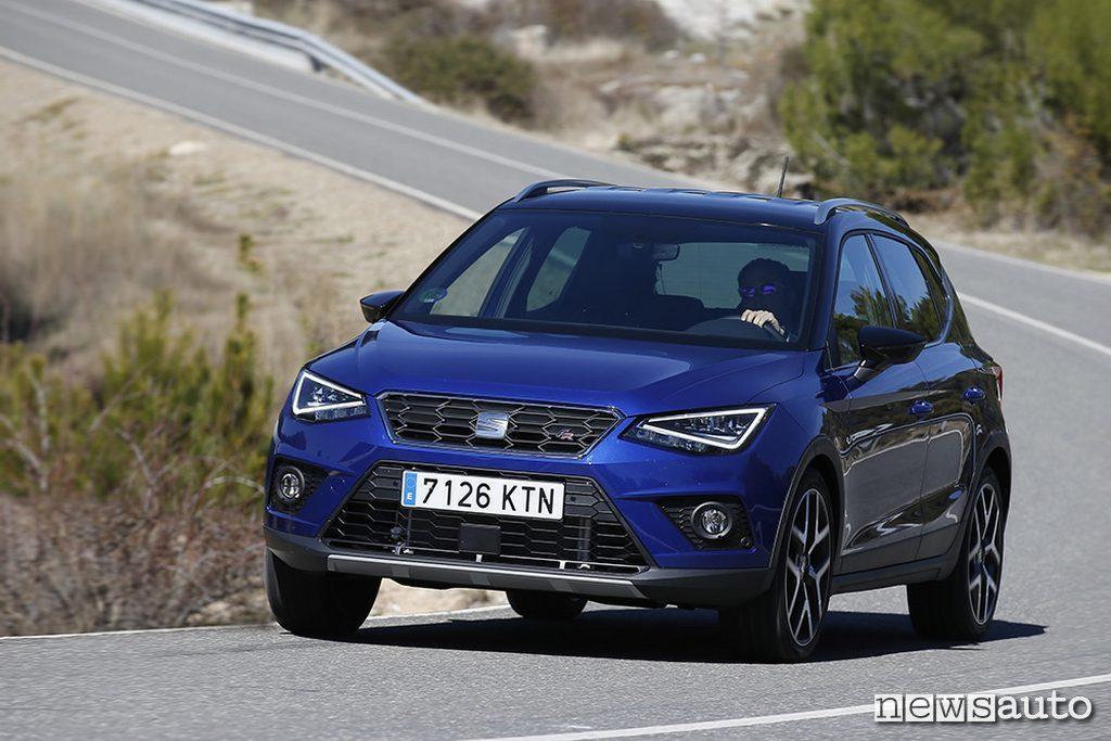 vendite auto aprile 2019 Europa Spagna Seat Arona TGI Suv a metano