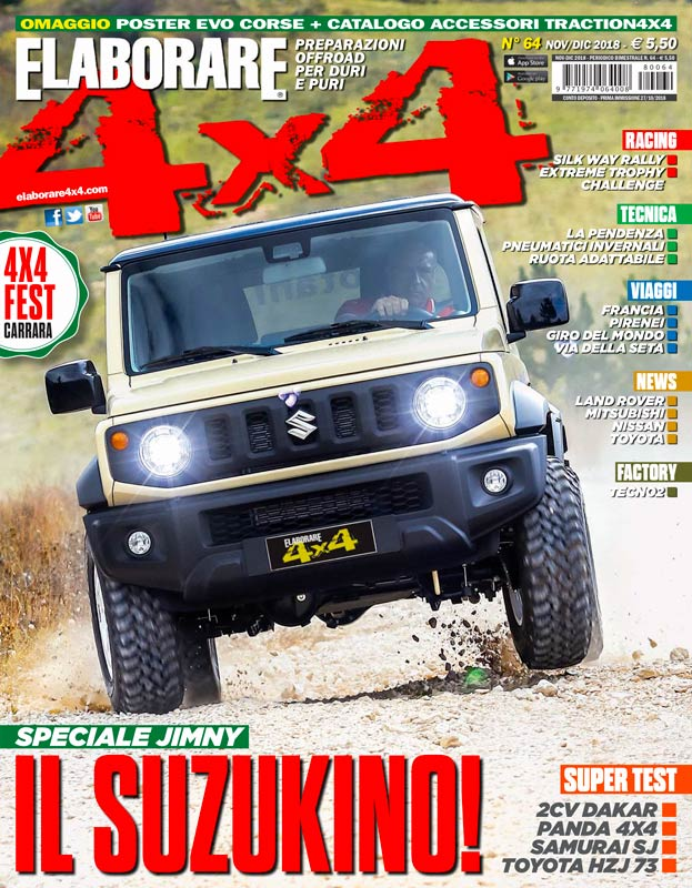 Suzuki Jimny 2019 Cover Elaborare4x4 magazine (preparato off road)