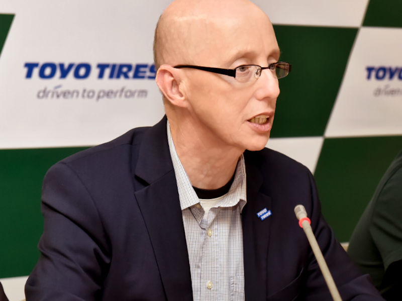 Mike Rignall, marketing manager di Toyo Tire Europe