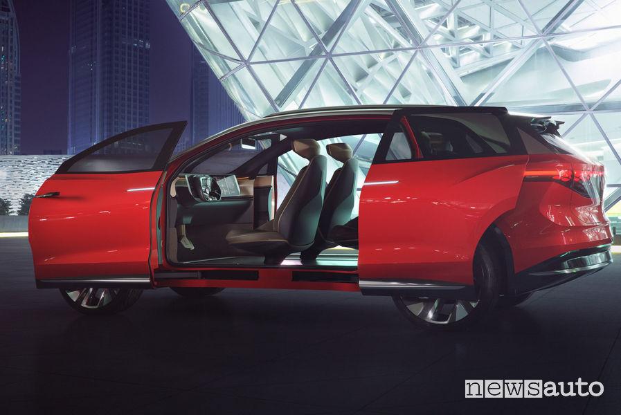 Volkswagen ID. Roomzz portiere aperte
