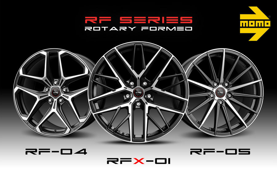 "Ruote in lega Momo  ""Rotary Formed"" RF-04, RFX-01, RF-05"