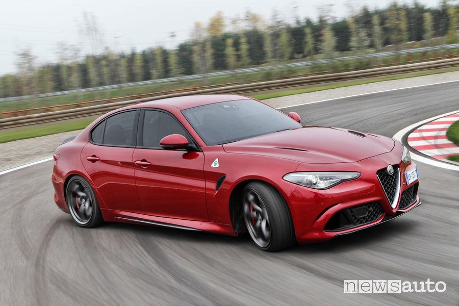 Traverso Alfa Romeo Giulia Quadrifoglio in pista