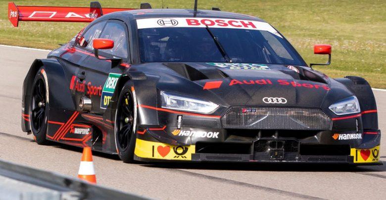 Vista di profilo Audi RS 5 DTM