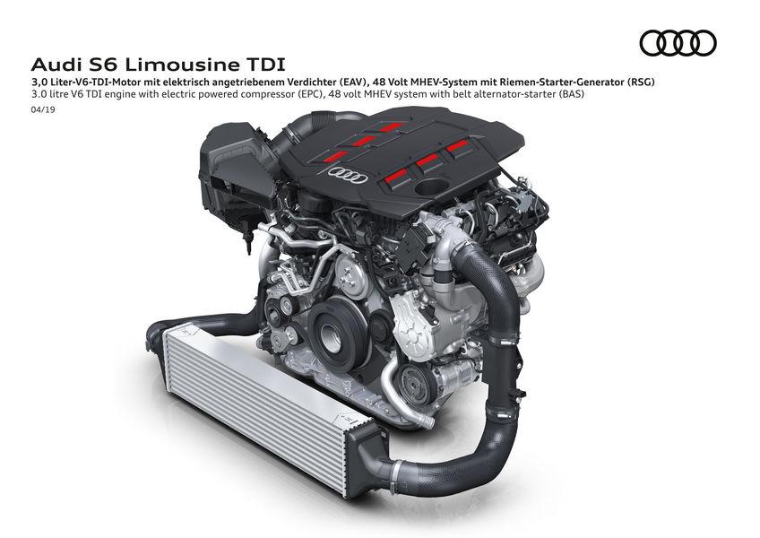 Audi S6 TDI mild-hybrid 48 V motore V6 3.0 TDI