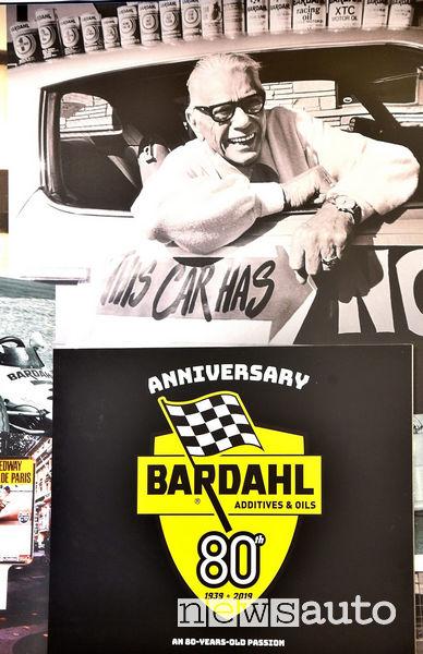 Logo Bardahl 80 anni