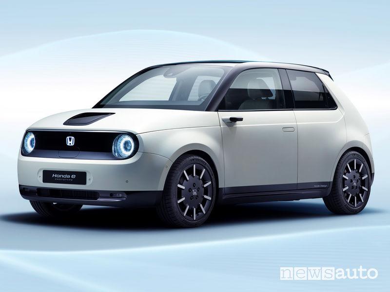 Honda e-Prototype vista di profilo