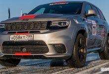 Jeep Grand Cherokee Trackhawk, record di velocità su ghiaccio