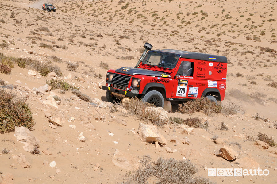 Land Rover Defender di Tommaso Castellazzi (T.T.Team) al Morocco Desert Challenge 2019