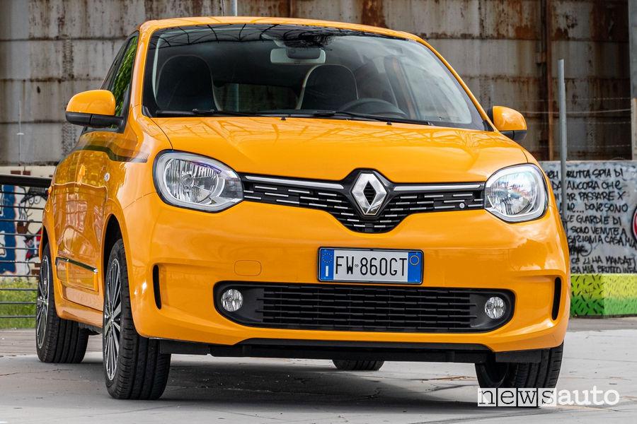 Nuova Renault Twingo 2019 vista frontale