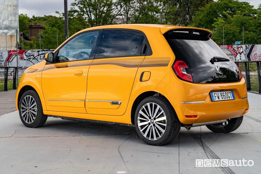 Nuova Renault Twingo 2019 vista posteriore