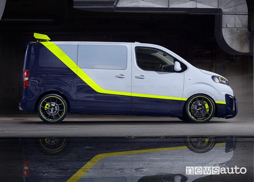 Opel O-Team Zafira Life concept vista laterale