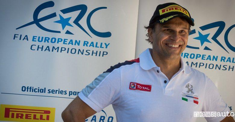 Paolo Andreucci nel Campionato Italiano Rally con la Peugeot 208 T16