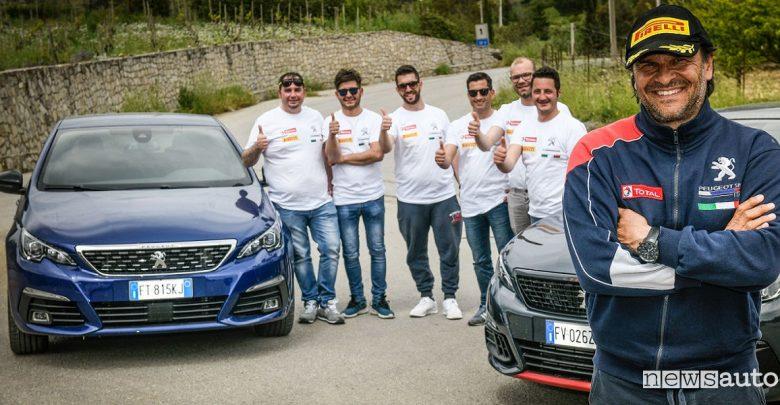 A scuola da pilota, un successo le lezioni con Peugeot e Andreucci