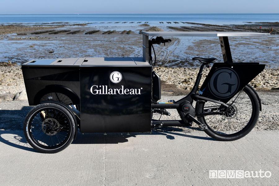 Tavolo aperto Peugeot foodbike per le ostriche Gillardeau