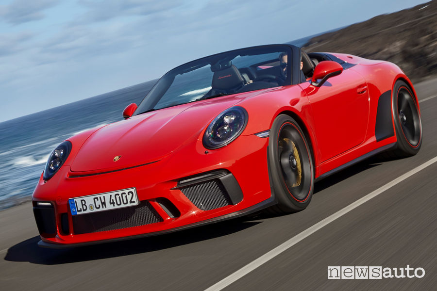 Vista di profilo Porsche 911 Speedster