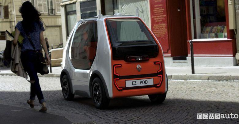 Renault EZ POD auto robot a guida autonoma