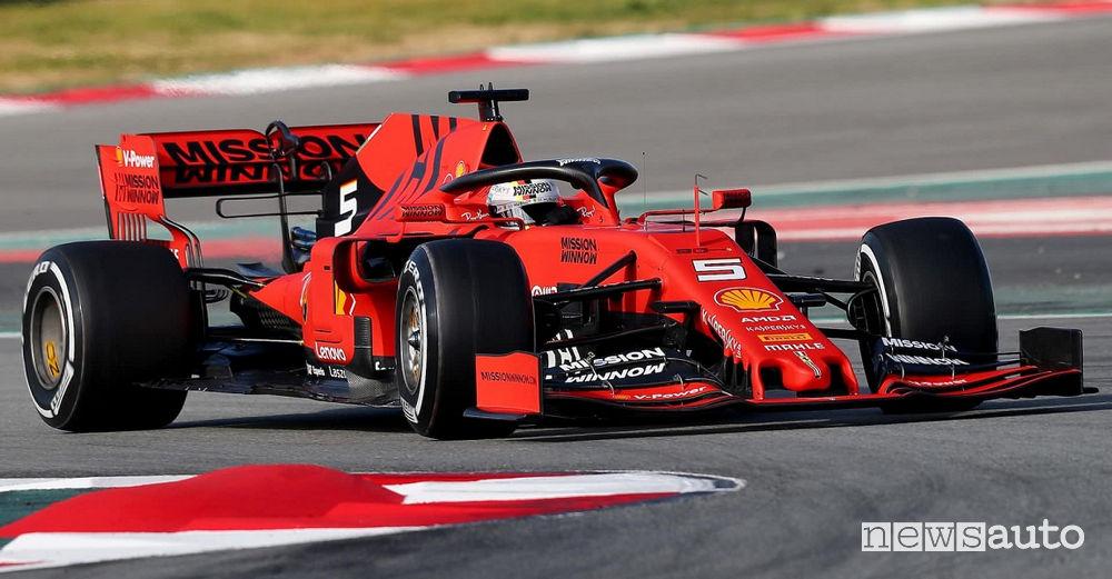Ferrari SF90 di Sebastian Vettel