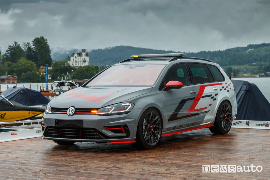 Prototipo Volkswagen Golf Variant FighteR al Worthersee 2019 vista di profilo