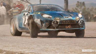 Alpine A110, la sportiva torna a correre nei rally