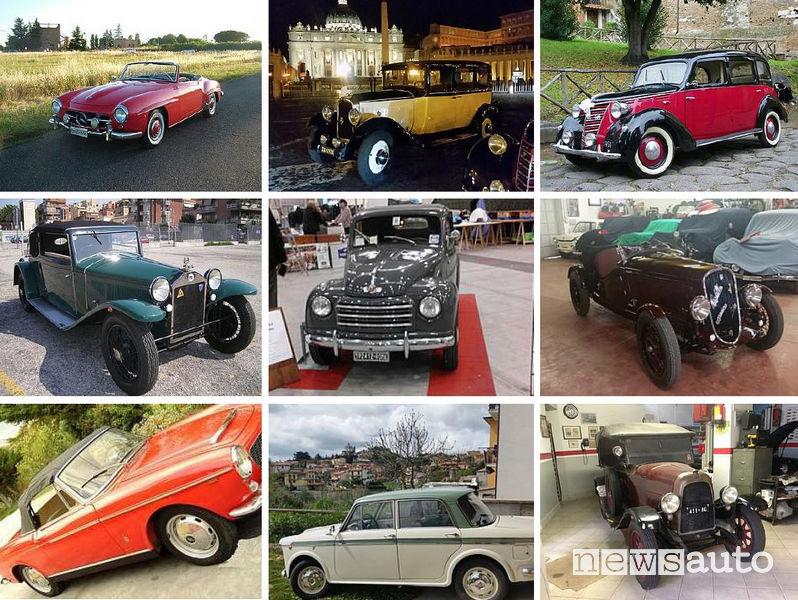 Auto storiche a Roma Autoantiqua 2019