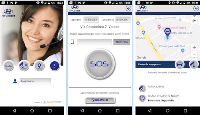 App soccorso stradale Hyundai