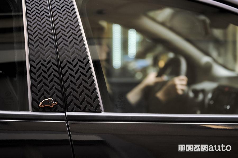 Elefantino montante Lancia Ypsilon Black and Noir