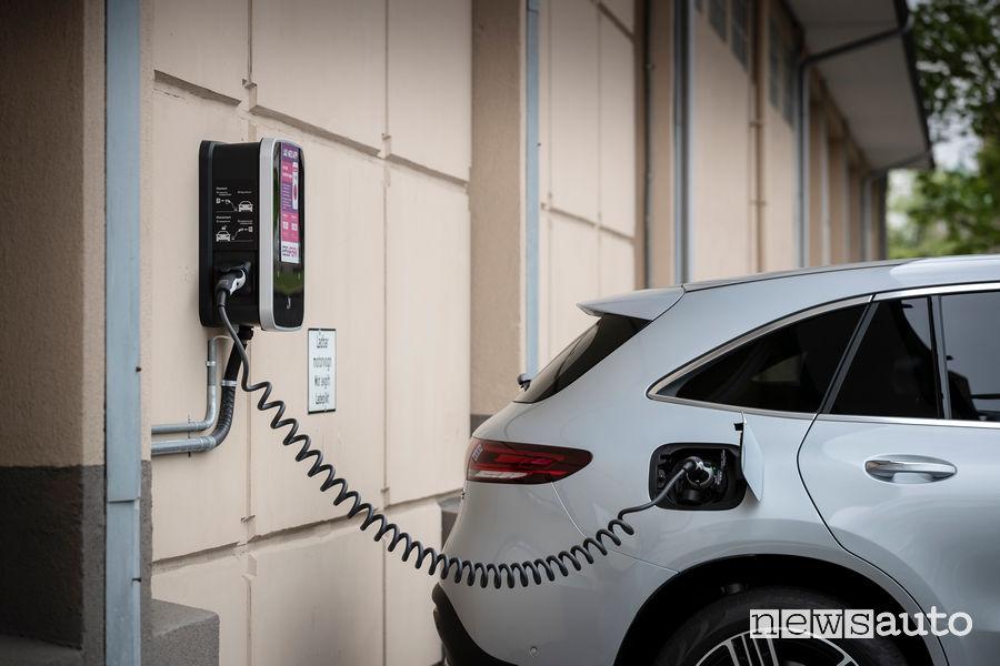 Wall box per ricarica eletrica della Mercedes EQC 400 4MATIC, presa di corrente per auto elettrica
