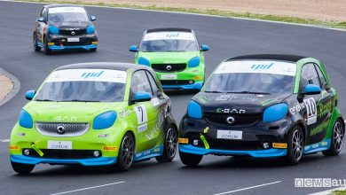 Smart elettriche da corsa, classifica gara Vallelunga EQ fortwo e-cup