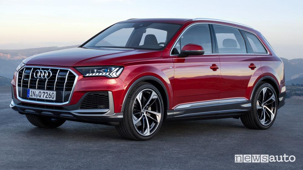 Audi Q7 2020 vista di profilo