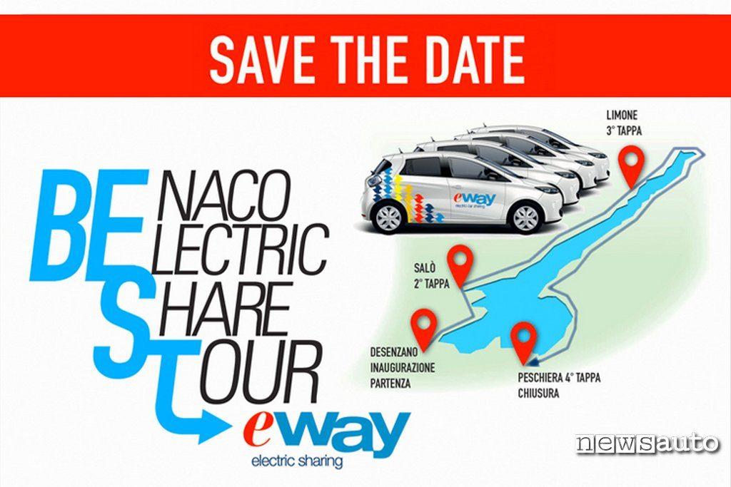 Benaco tour inaugurale e-way noleggio auto elettrico