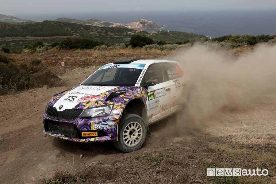 CIR 2019 Rally Italia Sardegna Skoda Fabia R5 Crugnola/Ometto