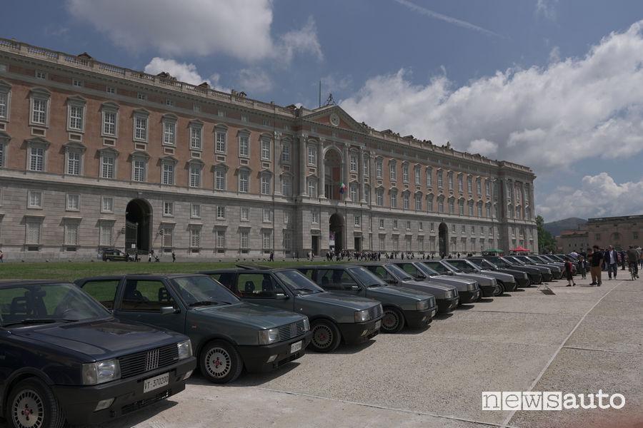 Raduno Fiat Uno Turbo i.e 2019 davanti alla Reggia di Caserta