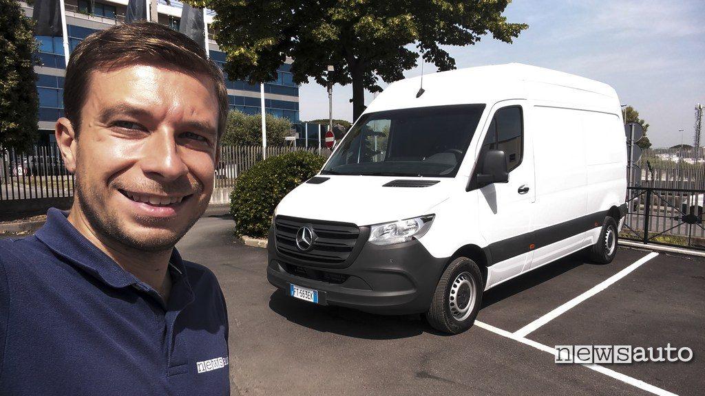 La prova del Mercedes Sprinter con Marco Paternostro