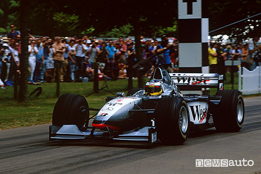 record cronoscalata Goodwood Nick Heidfeld McLaren MP4/13
