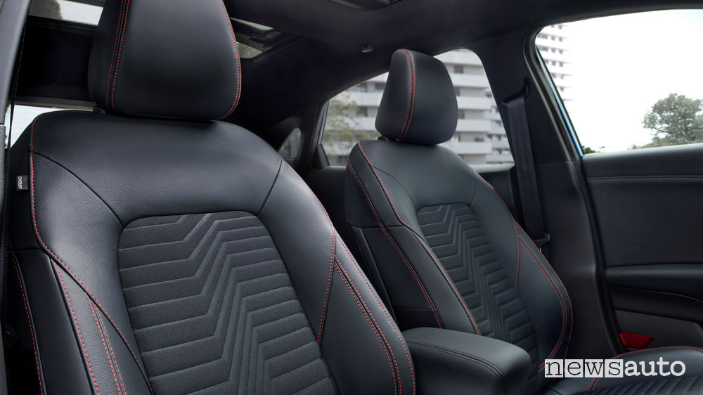 I  sedili anteriori della nuova Ford Puma ST-Line