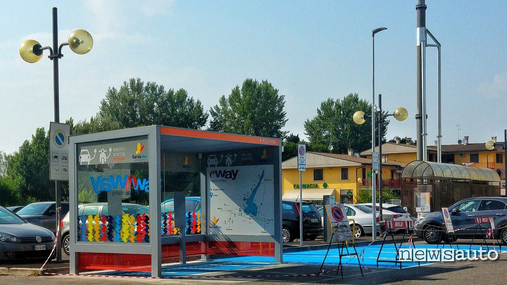 Stazione E-Way carsharing elettrico lago di Garda