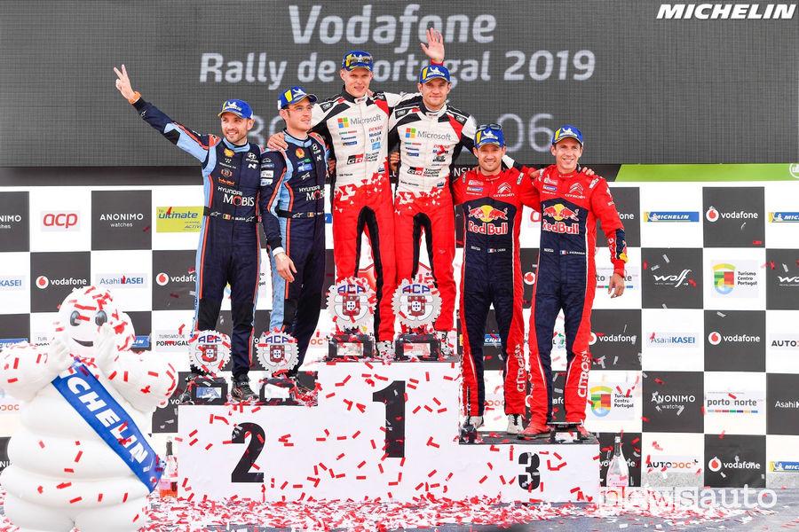 Podio WRC Rally Portogallo 2019
