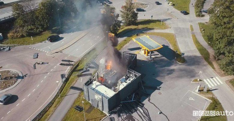 Esplosione distributore idrogeno Norvegia