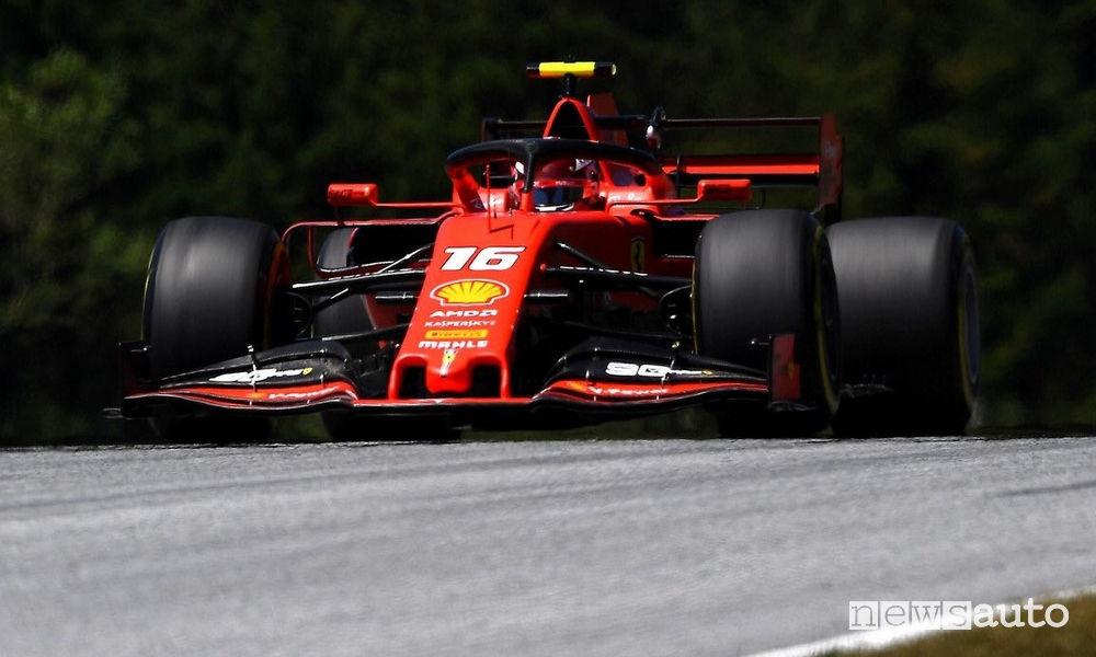 Charles Leclerc Ferrari record della pista Austria F1