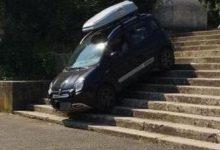Fiat Panda 4x4 scale di Villa Borghese